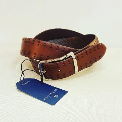 Cinturón Pertegaz doble picado cuero