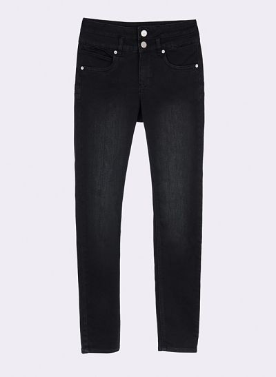 Pantalon vaquero Tiffosi doble up negro desgastado
