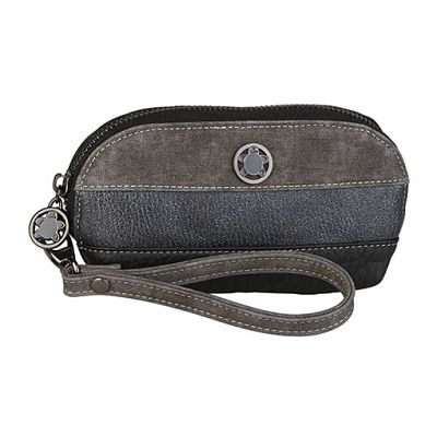 Monedero Caminatta Galana W552 negro y gris