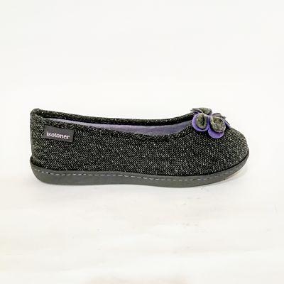 Zapatillas casa mujer Isotoner 93537 gris
