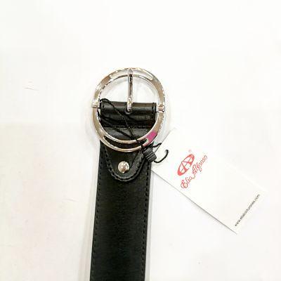 Cinturón piel negro Elial 9249 vaquetilla
