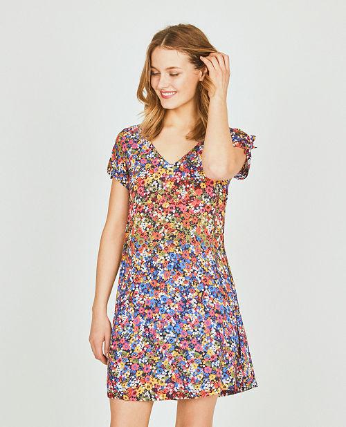 Vestido corto estampado Surkana Siri
