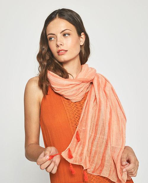 Fular mujer Surkana Teer naranja
