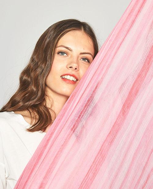 Fular mujer Surkana Teer rosa