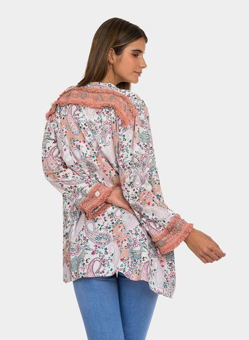 Chaqueta kimono estampada Tiffosi Gaura