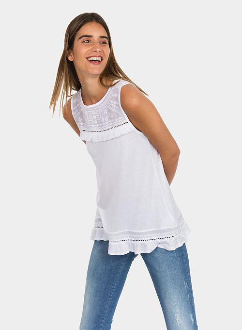 Camiseta Blanca Tiffosi Nemi