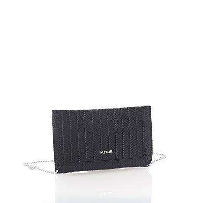 Bolso cartera pajilla negro