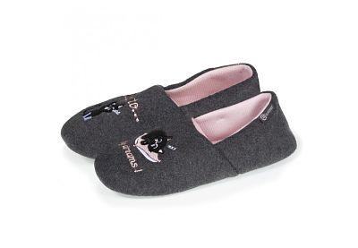 Zapatillas mujer Isotoner 67237 gris y rosa